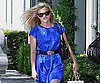 Slide Photo of Reese Witherspoon Wearing a Blue Dress in LA