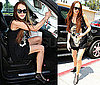 Photos of Lindsay Lohan Wearing a Skull Shirt in LA
