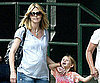 Slide Photo of Heidi Klum Walking With Leni Klum in NYC