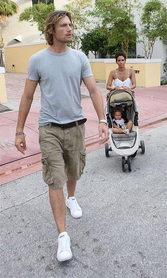 Photos of Halle Berry, Gabriel and Nahla Aubry in Miami