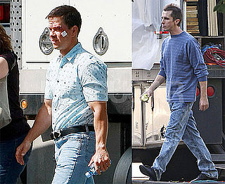 Photos of Skinny Christian Bale and Mark Wahlberg On The Set of The Fighter