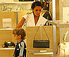 Slide Photo of Victoria and Romeo Beckham Shopping Together
