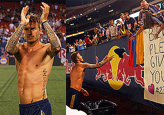 Shirtless Photos of David Beckham in New Jersey at LA Galaxy Game