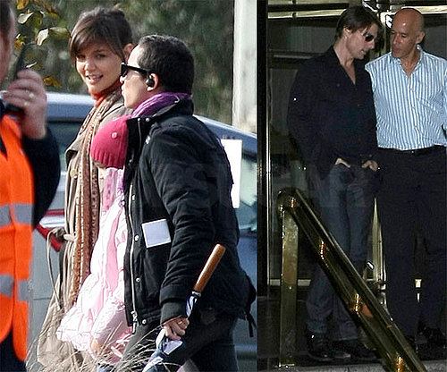 Photos of Katie Holmes on Set in Melbourne and Tom Cruise in LA