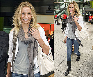 Photos of Cameron Diaz at Heathrow Airport