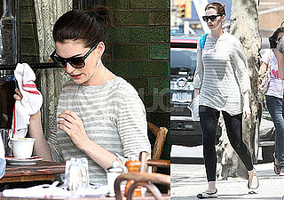 Photo Slide of Anne Hathaway Having Lunch in NYC