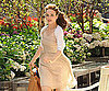 Photo Slide of Rachel McAdams Filming Morning Glory in a Garden
