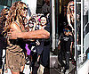 Photos of Beyonce Knowles With Her Nephew Daniel Julez in LA, Performing at Staples Center