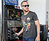 Photo Slide of Ryan Gosling at a LA Gas Station