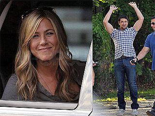 Photos of Jennifer Aniston and Gerard Butler Smiling to Fans on The Bounty Set, Jen Executive Producing Holler