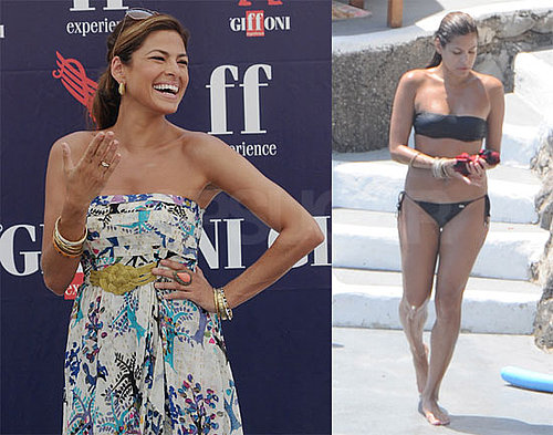 Bikini Photos of Eva Mendes in Italy