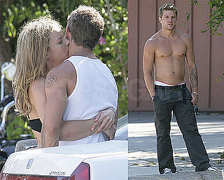 Shirtless Photos of Ryan Phillippe Kissing Abbie Cornish in LA