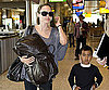 Slide Photo of Angelina and Maddox at Heathrow