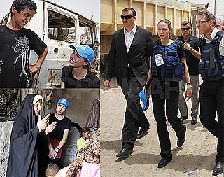 Photos of Angelina Jolie At Refugee Camp in Baghdad, Iraq