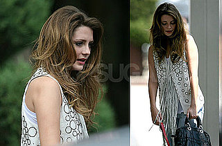 Photos of Recently Hospitalized Mischa Barton Working in NYC Ahead of The Beautiful Life Filming