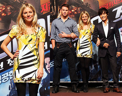 Photos of Sienna Miller And Channing Tatum Promoting GI Joe: Rise of the Cobra in Seoul