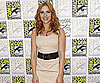 Photo Slide of Scarlett Johansson at 2009 Comic-Con on Behalf of Iron Man 2