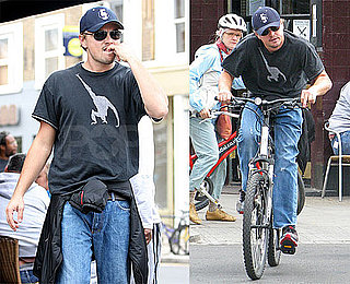 Photos of Leonardo DiCaprio Bike Riding Around Notting Hill