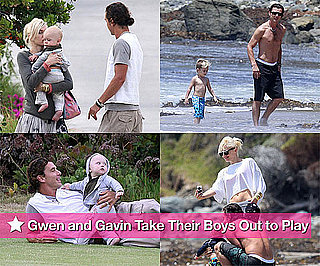 Photos of Gwen Stefani, Gavin Rossdale, Kingston Rossdale, Zuma Rossdale at the Beach