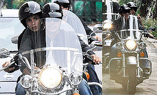Photos of Elisabetta Canalis And George Clooney Riding a Motorcycle in Italy With Rande Gerber