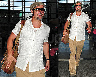 Photos of Brad Pitt at LAX Before Berlin Premiere of Inglourious Basterds