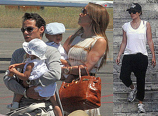 Photos of Jennifer Lopez And Marc Anthony Arriving in Rome with Twins Max and Emme