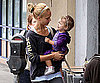 Photo Slide of Jessica Alba With Daughter Honor in LA