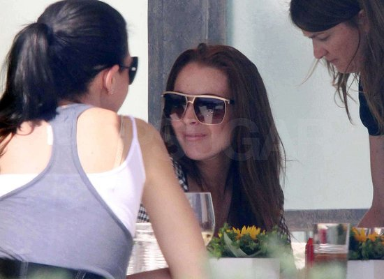 Photos of Lindsay Lohan at Lunch