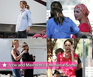 Photos of Katherine Heigl and Pregnant Ellen Pompeo Filming Grey's Anatomy in LA