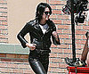 Photo Slide of Kristen Stewart on the LA Set of The Runaways in Leather