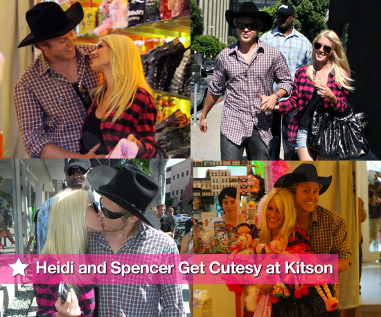 Photo Slideshow of Heidi Montag and Spencer Pratt Shopping and Kissing at Kitson in LA