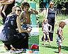 Photos of Pregnant Heidi Klum Playing With Leni and Henry at the Park in LA