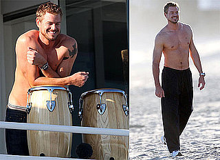Photos of Shirtless Eric Dane Filming Valentine's Day in LA