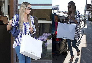 Photos of Lauren Conrad Touching Up Her Hair Extensions at the Warren Tricomi Hair Salon