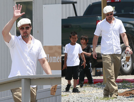 Photos of Brad Pitt in New Orleans