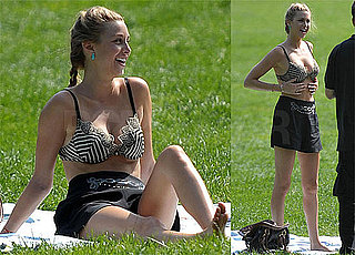 Bikini Photos of Whitney Port Filming The City in Central Park