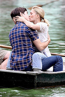 Photos of Drew Barrymore and Justin Long Making Out on the Set of Going the Distance in NYC