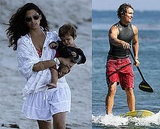 Photos of Matthew, Camila and Levi in Malibu