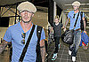 Photos of Brooklyn and David Beckham at LAX