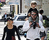 Slide Photo of Russell Crowe Holding His Son on His Shoulders in Sydney