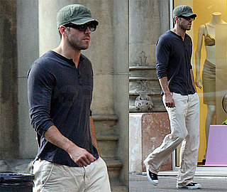 Photos of Ryan Reynolds Walking in Barcelona