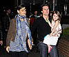 Photo Slide of Katie Holmes, Suri Cruise, and Tom Cruise on the Melbourne Set of Don't Be Afraid of the Dark