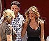 Photo Slide of Jennifer Aniston and Gerard Butler Laughing Together on the NYC Set of The Bounty