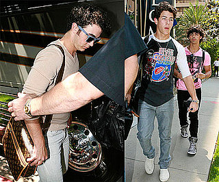 Photos of Kevin Jonas, Nick Jonas, and Joe Jonas Out and About in LA