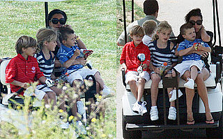Photos of Victoria Beckham on an LA Golf Course With Sons Cruz and Romeo