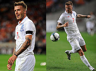 Photos of David Beckham Playing Soccer With the English Team in Holland