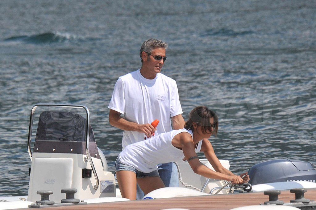 Photos of George Clooney and Elisabetta Canalis in Lake Como