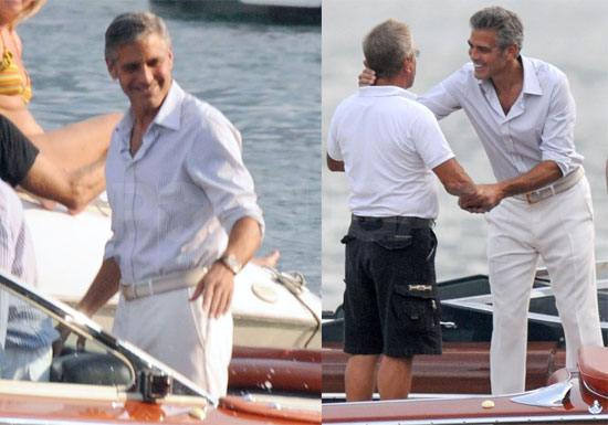 Photos of George Clooney in Lake Como