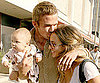 Slide Photo of Cam Gigandet With His Girlfriend and Baby at Kitson in LA