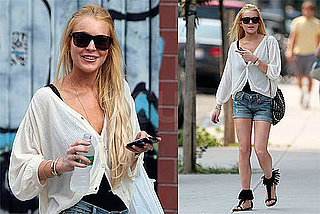 Photos of Lindsay Lohan in NYC, Avoiding Michael Lohan
